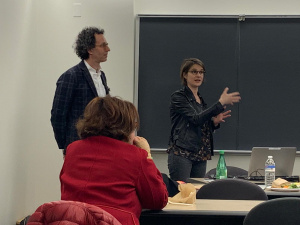 S4D4C's Pauline Ravinet and Mitchell Young present at Princton University