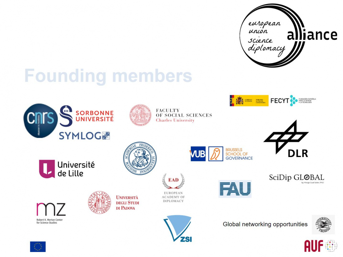 Founding Members of the EU Science Diplomacy Alliance